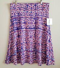 NWT LulaRoe Azure Skirt size 2XL 18 20 Geometric Print Red White Blue A-Line
