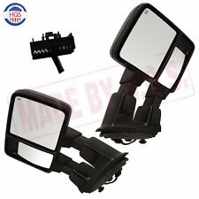 Power Heated Side Mirror For 08-15 F250 F350 W/ Turn Signal Towing Mirrors Pair