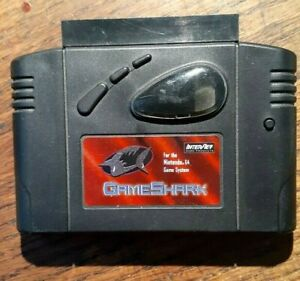 Used GameShark N64 Version 2.0 Authentic Nintendo 64 Cartridge Game Shark codes