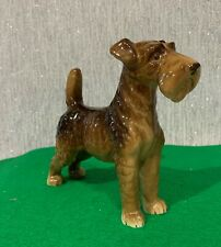 AIREDALE TERRIER POTTERY NO MAKERS MARK MAY BE GERMAN PERFECT BROWN GLOSS
