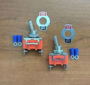 2 BBT Marine Grade On/Off 20 amp 12 volt Heavy Duty Toggle Switches