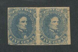 1862 Confederated États De Américain Envoi Tampon #4 Mint à Charnières F/VF