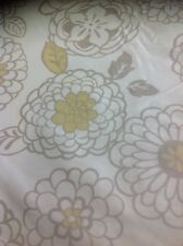 Prestigious Textiles Cancan Design In Cream And Gold By The Metre 100% Silk
