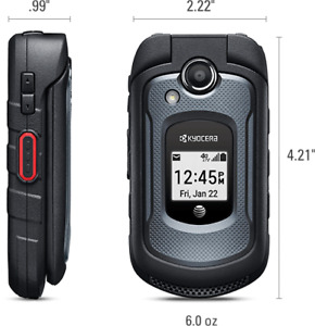 A+++++ Kyocera DURAXE E4710 AT&T LTE 4G 5MP CAMERA  FLIP Phone