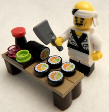 NEW LEGO SUSHI LOT with CHEF Minifig figure minifigure ninjago 71019 salmon roll