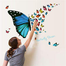 Butterfly Flying Room Home Decor Removable Wall Stickers Decals Decorations