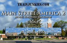 "TrainJunkies N Scale ""Main Street America 2"" 12x80"" Brand New C-10"