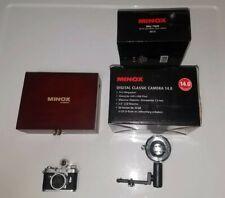 Minox Digital Classic Camera 14.0 Silver 60720 with Minox Blitz/Flash 69127