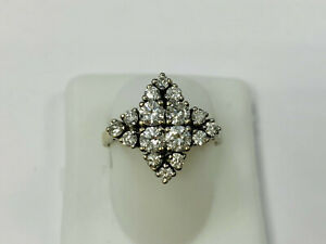 Ring, 585 White Gold, with Diamonds, 4,16g, Ring Size 55 (45461)