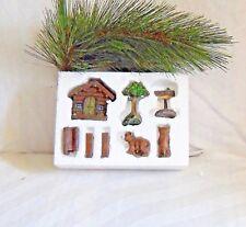 Woods/Cabin Mini Fairy Garden Set, miniatures, fairy collecitbles, fairy garden