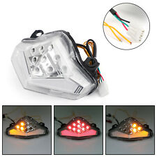 Integrated LED TailLight Turn Signals For Kawasaki ER-6 N/F 2012-2014 Clear