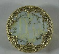 Victorian Era German Solid Silver Gilt & Mother of Pearl Snuff/Trinket Box
