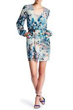 $298 NWT BCBG MAX AZRIA Adelynn Woven Silk Blouson Cocktail Dress AQUA XXS