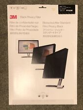 """3M Black Privacy Filter 19"""" Moniter / Computer Screen   Blackout NEW"""
