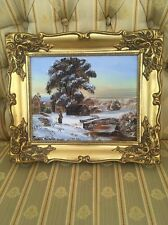 Oil on Board by Margaret Pemberton  35cms  X 29cms With Ornate Gold Frame SIGNED