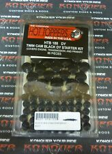 Hot Toppers Black Engine,Primary,Transmission Fasteners 99-05 Dyna HTB188