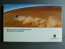 "2002 Porsche Cayenne ""Shrouded in Secrecy"" Advertising Sales Brochure -- White"
