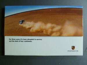 "2002 Porsche Cayenne ""Shrouded in Secrecy"" Advertising Sales Brochure White"