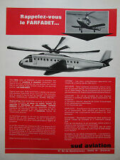 1963 PUB SUD AVIATION FARFADET ADAV ADAC HELICOPTER FRENCH AD