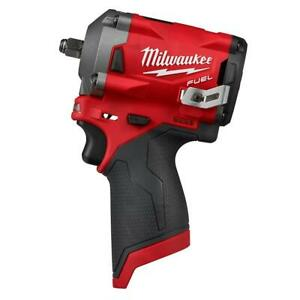 Milwaukee M12 FUEL 12V Lith-Ion Cordless Stubby 3/8 in. Impact Wrench 2554-20