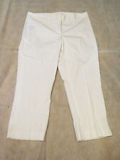 NWT $205 MAGASCHONI Sugar White Cotton Summer Fab Cropped Capri Pants 10
