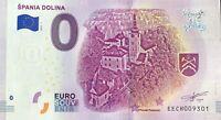 BILLET 0 EURO SPANIA DOLINA  SLOVAQUIE 2019-2 NUMERO DIVERS