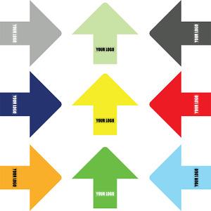 Social Distancing Floor Sticker/Decals - Anti Slip, Arrow Stickers, Custom Logo