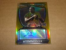 2007 Bowman Sterling LAWRENCE TIMMONS Gold RC Auto/1800 STEELERS Florida State