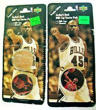 JORDAN'S BACK 2 Milk Cap Starter Packs 10 Caps 1 Slammer by Upper Deck 1995