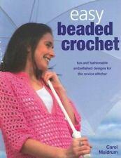 Easy Beaded Crochet  Beads Learn Pattern Hat Scarf Jewelry Bag NEW - FREE SHIP