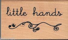 ANITA's petites mains tampon en caoutchouc sur bois bloc en bois