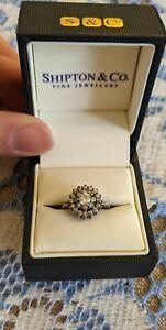 💎Georgeous Genuine Designer Diamond rhinestone sterling silver 925 Ring small💎