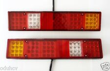 2x 12V Rear Tail LED Lights for Lorry Van Caravan Camper Bus Tipper Volvo Iveco