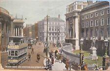 Irish Postcard COLLEGE GREEN WESTMORELAND STREET Dublin Ireland 1924 Valentine