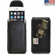 Turtleback iPhone 6 Plus Leather Pouch Holster Metal Clip Fits Speck Case