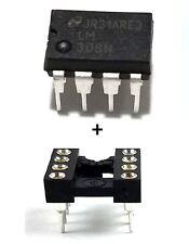 10PCS National Semiconductor LM308N LM308 + Socket - Precision Op Amp - New IC