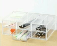 Acrylic 6 drawer cosmetic organizer