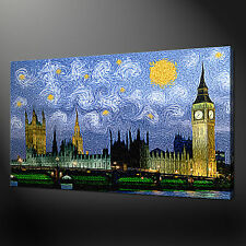 LONDON PARLIAMENT PAINTING VAN GOGH STYLE CANVAS PRINT ART 30 X 20 Inch WALL ART