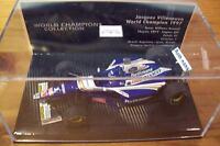 1/43 WILLIAMS 1997 RENAULT FW19 JACQUES VILLENEUVE WORLD CHAMPION BOX ROTHMANS