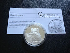5 $ Dollar - Young Wildlife Tiger Cook Islands 1 oz Silber Silver PP proof 2013