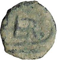 BERYTOS in PHOENICIA 218AD Satyr Marsyas Galley Ship Ancient Greek Coin i32533