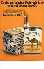 PUBLICITE  1971   CAMEL  cigarettes filtre