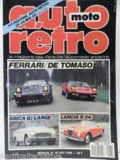 Revue AUTO RETRO moto magazine n° 93 - mai 1988 collection ferrari de tomaso B24