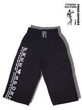 schwarze 3/4 Fitnesshose Bermuda Freizeit Shorts Bodybuilding Free4Sport