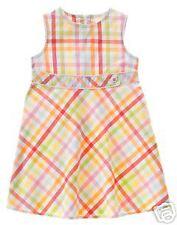 New Gymboree Spring Rainbow Plaid Dress Size 7 NWT