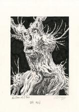 TROY NIXEY Don't Be Afraid Of The Dark-Oak Men ORIGINAL ART Guillermo Del Toro