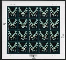NATIVE ART US AMERICANA SCOTT #3750 NAVAJO JEWELRY #V111111 20 VF 2c STAMP SHEET