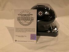 UDA Upper Deck Authenticated Kyle Connor Autographed Winnipeg Jets Mini Helmet