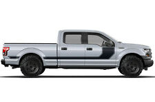 Vinyl Decal Wrap RALLY STRIPE for Ford F-150 15-17 MATTE BLACK SuperCrew 6.5 Bed