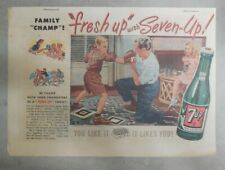 7-Up Ad: Fresh Up With Seven-Up! Boxing Lessons ! from 1950's  7 x 10 inches